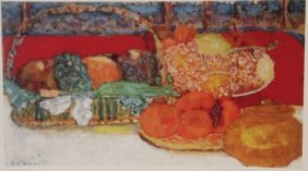Various Fruits - Lithograph - By Bonnard