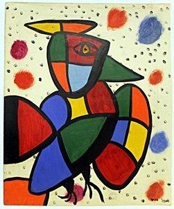 The Bird 1970' - Oil On Paper - J. Miro