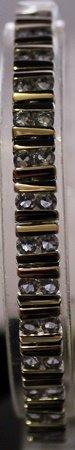 Fancy Sterling Silver Lab Tanzanite Bracelet.