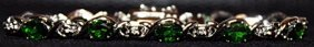 Very Fancy Fine Russian Chrome Diopside Sterling Silver