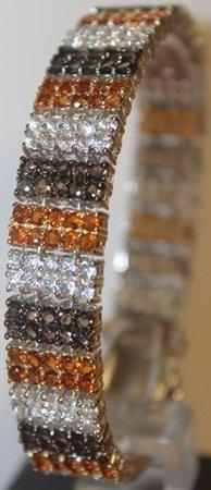 Stunning Sapphire And Amethyst Bracelet