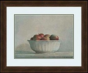Mcintosh Apples In A White Bowl, 1981 By Elsie Manville
