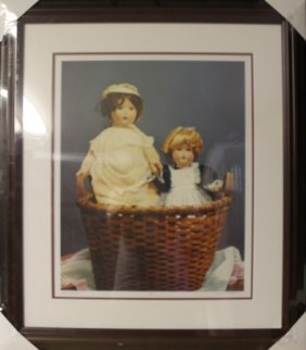 "Giclee On Cavas ""basket For Two"" By Gerald Lubeck"
