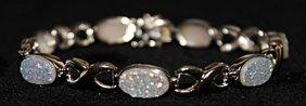 Beautiful Opal Doublets Bracelet.
