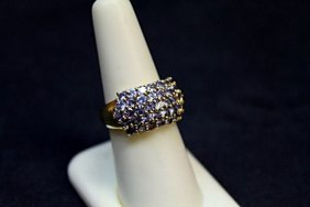 Lady's Fancy Tanzanite Silver Ring.