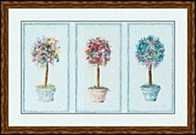 Three Topiaries By Carolyn Bucha
