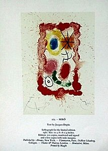 "Print ""miro"" By Joan Miro"