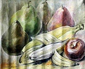 """Original Acrylic On Canvas """"still Life Ii"""" By Leonid"""