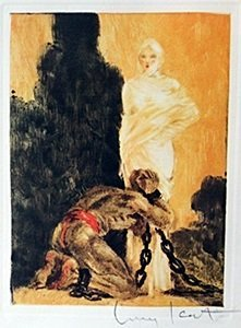 "Color Etching ""shackled Soul"" By Louis Icart"