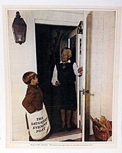 """Lithograph """"bryan To Mrs Rockwell"""" By Norman Rockwell"""
