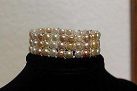 Ladies Gorgeous Baroque Pearl Bracelet