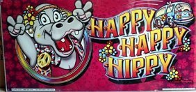 "Vintage Collectible Casino Slot Machine Glass ""happy"