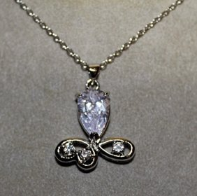 Lady's White Sapphire Necklace.