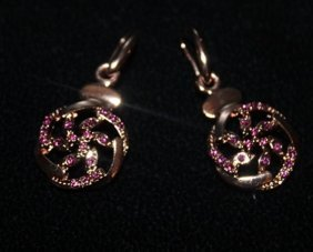 Lady's Beautiful 18kts Rose Gold Over Silver With