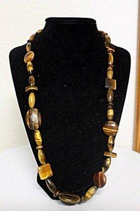 Ladies Beautiful Tiger Eye Necklace