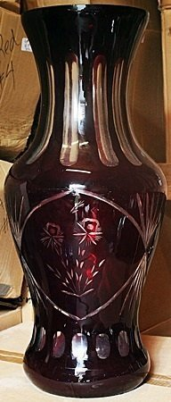 Dark Red Turkey Crystal Vase