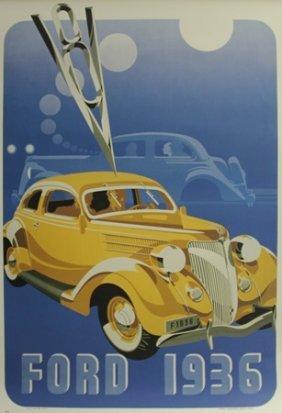 Vintage Ford 1936 Poster