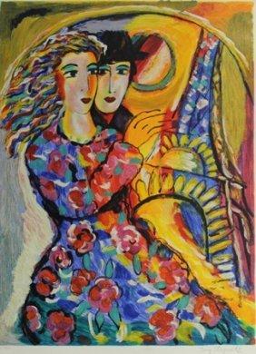 "Lithograph ""parisian Evening"" By Zamy Steynovitz"