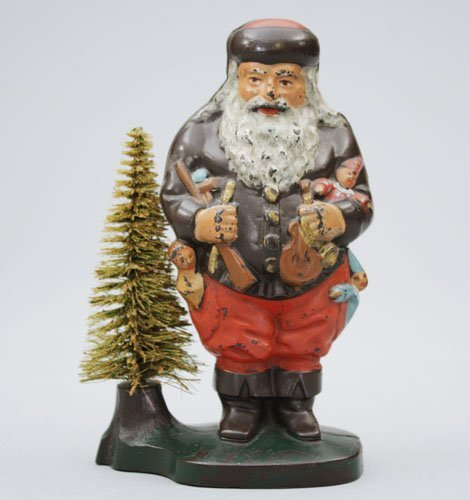Christmas Tree Auction: 1: Santa With Removable Wire Tree, Multicolor : Lot 1