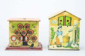 Thrifty Animal / Birdhouse Mechanical Bank