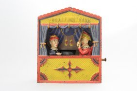 Punch And Judy, Medium Letters Mechanical Bank