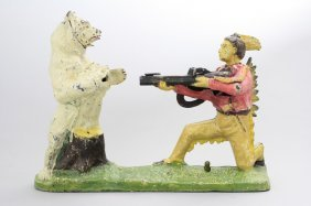 Indian And Bear Bank, White Bear Mechanical Bank