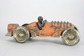 Racecar With Cast Iron Wheels Cast Iron