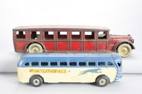 Two Cast Iron Buses Cast Iron
