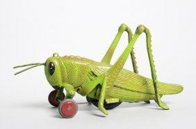 Large Articulated Grasshopper Cast Iron