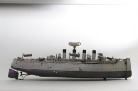 Four Funnel Battleship Gebruder Bing
