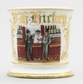 Bar Scene - Two Patrons Occupational Shaving Mug