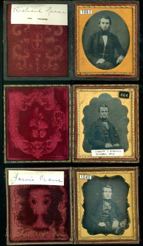 3 Sixth Plate Daguerreotypes Of Men