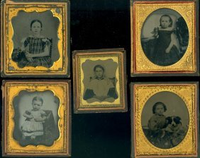 5 Ambrotypes Of Young Girls