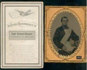 Half Plate Ambrotype Of Captain Richard Benson