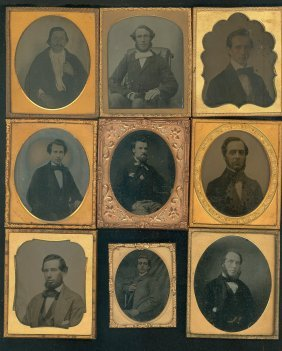 9 Ambrotypes Of Men
