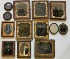 Mixed Group Of Ambrotypes