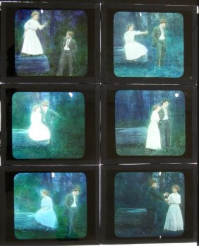 6 Genre Glass Lantern Slides