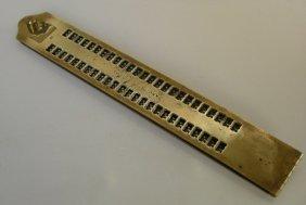 Brass Braille Punch