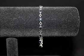 Exquisite Sapphire Silver Bracelet