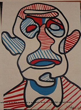 Jean Dubuffet - Self Portrait