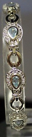 Very Fancy Sterling Silver Lab Topaz & White Sapphire