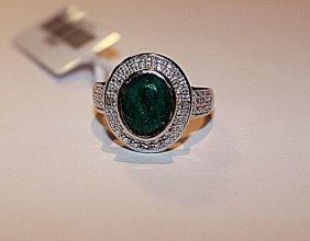 Exquisite Emerald & Diamond Ring