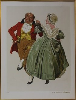 """""""dancing Partners"""" By Norman Rockwell"""