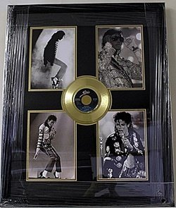 Michael Jackson Giclee With Mini Gold Album He5062