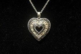 Gorgeous Double Sided Heart Black & White Diamonds