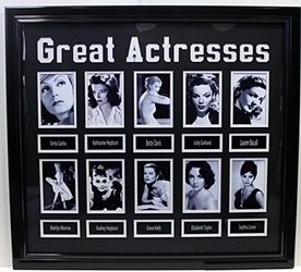 Great Actresses - Custom Framed Memorabilia