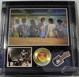 Pink Floyd Holgram Giclee With Mini Gold Album, Mini