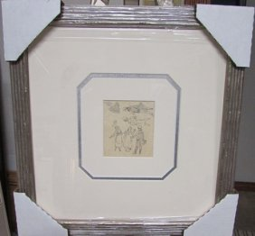 Hand Signed Drawing Ludovic Rodo Pissarro - Untitled