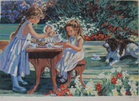 """tea For Four"" After Corinne Hartley"
