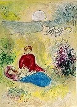 Lithograph By Marc Chagall- The Little Swallow